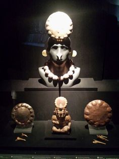 Inca artifacts: Largo Herrera Museum Lima, Peru.  Located in an 18th century restored mansion. Houses the world's largest collection of pre - Columbian art.