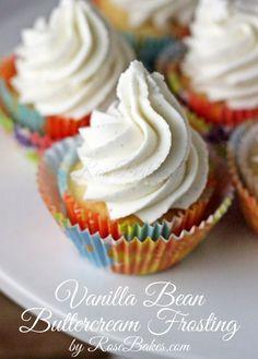 Vanilla Bean Buttercream Frosting #icing