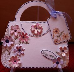 Craftwork Cards': handbag shaped cards