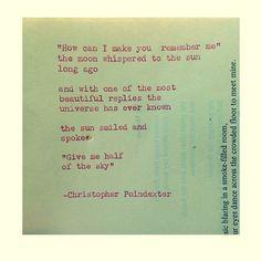 Remington Typewriter Poetry. | via Tumblr
