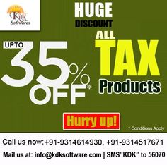 ::Huge Discount:: Upto 35% discount on All Tax products.  Enquire Now - http://www.kdksoftware.com/Enquiry.html