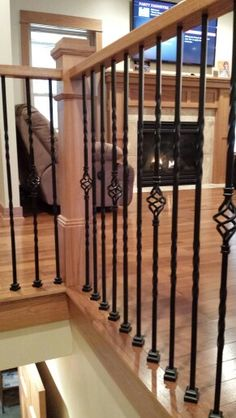 Iron rail and fire place