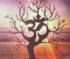 The Universal Om symbol Buddha Sacred Indian Lotus Flower Nelumbo Nucifera Vinyl Wall Decal Buddhism Divine Buddhist vibration Sign Tree Of Life, Ohm Tattoo, Om Symbol, Mandala, Painting, Tree Tattoo, Art, Buddha, Yoga Art
