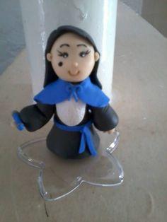 Boneca Pedagoga Lembrancinha de formatura em biscuit.