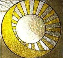 Sun and Moon crop circle, West Kennett Longbarrow, Wiltshire