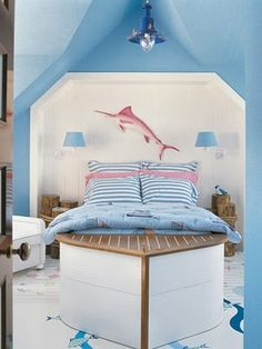 Not crazy about the headboard...maybe pair it with the oar headboard I saw? Do a shabby chic coastal look?