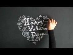 黒板とチョークだけでもインテリアになるチョークアートの描き方。 大人黒板②(Chalk Art : blackboard:chalkboard) - YouTube