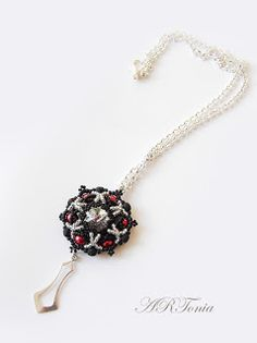 Crystal Swarovski rivoli pendant