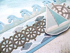 The Maritime Collection gives you plenty of ways to create beautiful beach themed scrapbook borders. Check out these fun border ideas and try them yourself! Beach Scrapbook Layouts, Cruise Scrapbook, Scrapbook Borders, Scrapbook Titles, Birthday Scrapbook, Scrapbook Embellishments, Travel Scrapbook, Scrapbooking Layouts, Paper Bag Scrapbook