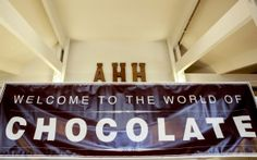 Welcome Sign in the Lobby at 2016 Oregon Chocolate Festival www.oregonchocolatefestival.com