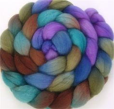 Handpainted BFL Wool Roving - 4 oz. CALYPSO - Spinning Fiber. $15.00, via Etsy.
