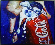 David Wang Coca cola acrílica s / tela 100 x 120 cm