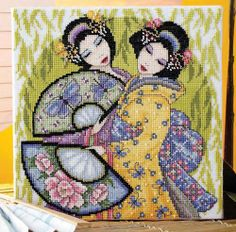 Help unrave the mysteries of te geishas with Joan Elliott's exquisitely feminine design  Published in Cross Stitch Collection #232