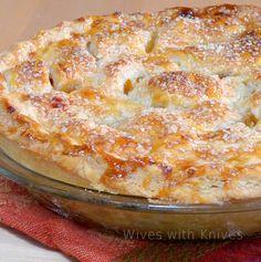 Homemade peach pie..I love peach pie!