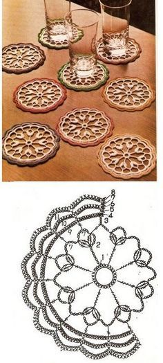 61 new ideas crochet granny square pattern mandalas photo tutorial Crochet Potholders, Crochet Doily Patterns, Granny Square Crochet Pattern, Crochet Mandala, Crochet Diagram, Crochet Round, Crochet Chart, Crochet Squares, Crochet Home