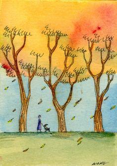 Autumn walk -- Nicole Wong