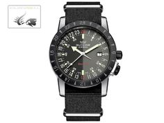 Glycine Airman Bi-Color Automatic Watch, Purist GL 293, Fabric strap | Iguana Sell