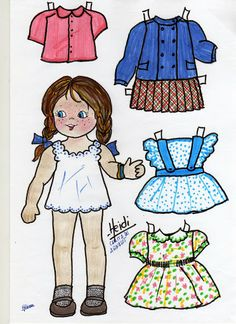 Heidi* For lots of free Christmas paper dolls International Paper Doll Society #ArielleGabriel artist #ArtrA thanks to Pinterest paper doll & holiday collectors for sharing *