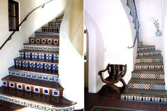 5 Favorites: Spanish-Style Tiled Stair Risers : Remodelista  This is what I am going to do!