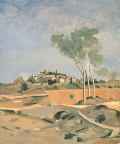 André DERAIN (1880-1954) séjourna dans le Midi de la France à nouveau en 1932 et 1933. Le village qu'il représente ici serait celui d'Eygalières
