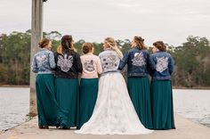 From jean to leather, personalized and customized jackets are a cute way to add serious style and showcase your new Mrs. status. See what else is trending in weddings. Bridesmaids, Bridesmaid Dresses, Wedding Dresses, Trending Now, Wedding Trends, Weddings, Cute, Leather, Jackets