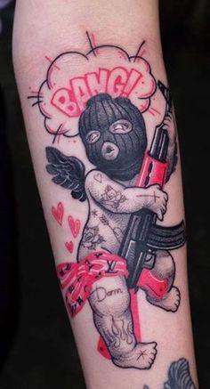 Dope Tattoos For Women, Hand Tattoos For Guys, Badass Tattoos, Gangsta Tattoos, Forearm Sleeve Tattoos, Tattoo Sleeve Designs, Half Sleeve Tattoos Drawings, Back Of Forearm Tattoo, Men's Forearm Tattoos