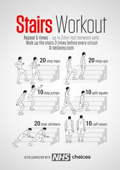 Stairs Workout | Posted by: CustomWeightLossProgram.com