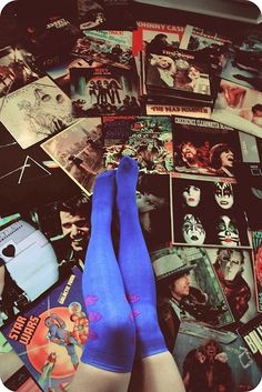 Rock & Roll Record Circus - Listening To Kiss - Quiet Riot - Metallica - Johnny Cash - Cheap Trick - Blondie - Pink Floyd & Creedence - Classic Record LP's