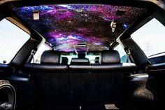 Galaxy art. Car roof interior.