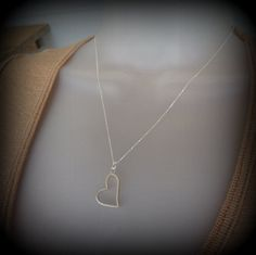 Handstamped Silver heart necklace personalized by MoodiChic