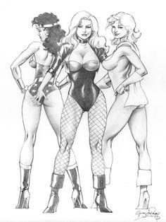 DC Babes After Dave Comic Art Greg LaRocque