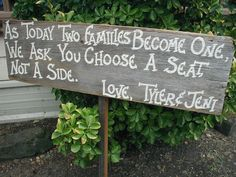 Rustic Wood Wedding Sign on Stake Seating Plan by craftmarttexas, $45.00