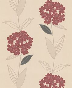 Symmetry : Red & Beige Wallpaper from www.grahambrown.com