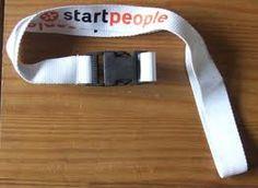 Een keycord van Startpeople, hiermee maken ze goed reclame bij de mensen.