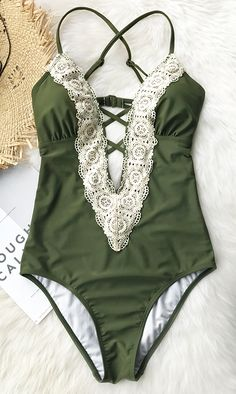 New arrival! This one-piece bikini is the answer to beat the heat this summer. Its solid color and ornamental lace splicing make you both elegant and hot. You won't want to miss it. Let's  pack it  for beach trips with close friends. Check it out!