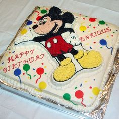 Mickey Mouse Birthday Cake: http://di.sn/g54