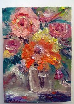 "Gail Grant original impressionism oil painting   8"" x 10"" COA signed abstract #Impressionism"
