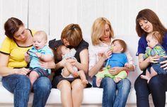 mamas con sus hijos