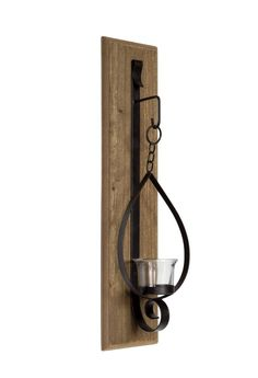 Simple Wall Sconce Large candles Wall sconces and Wrought iron