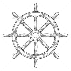 Ship wheel isolated on white background. Vector vintage engraving illustration w. - Ship wheel isolated on white background. Vector vintage engraving illustration with title MARINE. Ankle Tattoo Small, Small Tattoos, White Tattoos, Ankle Tattoos, Tiny Tattoo, Temporary Tattoos, Ship Wheel Tattoo, Tattoo Ship, Helm Tattoo