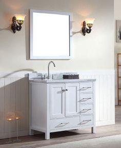 37 inch bathroom vanity. ariel+cambridge+(single)+37-inch+white+modern+bathroom 37 inch bathroom vanity