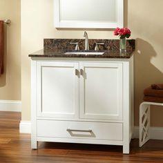 "36"" Modero Vanity for Rectangular Undermount Sink - White"