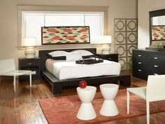 Eclipse Queen Platform Bedroom