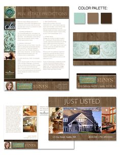 "Feeling ""found"" and weathered, Sandra's unique branding is like wood, copper and patina treasures discovered and brought to light."