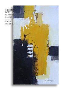 Acrylic Abstract painting , Small original modern Abstract Original painting…
