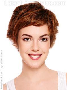 Short+Choppy+Hairstyles+with+Bangs | Short choppy hair with short bangs