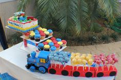 Thomas the Train Birthday Party Ideas | Photo 7 of 14: Need to get a cake pop pan!