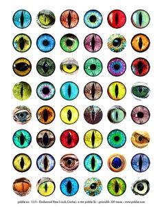 Your place to buy and sell all things handmade - Image size: 1 inch circles Piddix has been providing the best quality, top selling printab - Realistic Eye Drawing, Drawing Tips, Drawing Tutorials, Dragon Eye Drawing, Dragon Drawings, Drawing Ideas, Animal Drawings, Art Drawings, Site Art