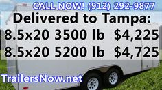 Cargo Trailer Tampa FL, 8.5x20 Trailers - Tampa Cargo Trailer For Sale