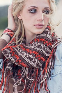 Ravelry: Canyon Cowl in Interweave Crochet Fall 2014 Slip Stitch Crochet and no ends to weave in!
